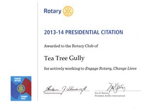 Presidential Citation Certificate